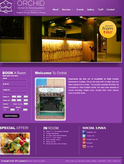 ORCHID HOTEL WEB DESIGN